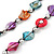 Long Multicoloured Shell Nugget & Wood Bead Necklace - 90cm L - view 4