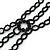 3 Strand Black Beaded Flex Choker Adult - 30cm Length/ 6cm Extension - view 5
