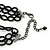 3 Strand Black Beaded Flex Choker Adult - 30cm Length/ 6cm Extension - view 7