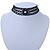 3 Strand Black Beaded Flex Choker Adult - 30cm Length/ 6cm Extension - view 2
