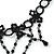 Chic Victorian/ Gothic/ Burlesque Black Bead Choker Necklace - 31cm Length/ 8cm Extension - view 5