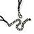 Chic Victorian/ Gothic/ Burlesque Black Bead Choker Necklace - 31cm Length/ 8cm Extension - view 7