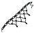 Fancy Dress Party Black Acrylic, Glass Bead Bib Choker Necklace - 28cm L/ 7cm Ext - view 5