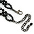 Fancy Dress Party Black Acrylic, Glass Bead Bib Choker Necklace - 28cm L/ 7cm Ext - view 6