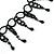Fancy Dress Party Black Acrylic, Glass Bead Choker Necklace - 30cm L/ 7cm Ext - view 7