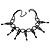 Fancy Dress Party Black Acrylic, Glass Bead Choker Necklace - 30cm L/ 7cm Ext - view 3
