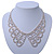Clear Austrian Crystal Collar Necklace In Silver Tone - 30cm Length/ 15cm Extension - view 8