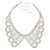 Clear Austrian Crystal Collar Necklace In Silver Tone - 30cm Length/ 15cm Extension - view 2