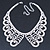Clear Austrian Crystal Collar Necklace In Silver Tone - 30cm Length/ 15cm Extension - view 4