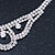 Clear Austrian Crystal Collar Necklace In Silver Tone - 30cm Length/ 15cm Extension - view 6