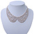 Clear Austrian Crystal Collar Necklace In Silver Tone - 28cm Length/ 15cm Extension - view 4