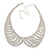 Clear Austrian Crystal Collar Necklace In Silver Tone - 28cm Length/ 15cm Extension - view 2