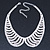 Clear Austrian Crystal Collar Necklace In Silver Tone - 28cm Length/ 15cm Extension - view 3