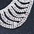 Clear Austrian Crystal Collar Necklace In Silver Tone - 28cm Length/ 15cm Extension - view 5