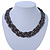 Hematite Tone Plaited Mesh Choker Necklace - 38cm Length/ 4cm Extension