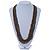 Multistrand Metallic Grey/ Bronze Glass Bead Necklace - 70cm L - view 2