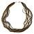 Multistrand Metallic Grey/ Bronze Glass Bead Necklace - 70cm L - view 3