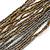 Multistrand Metallic Grey/ Bronze Glass Bead Necklace - 70cm L - view 4
