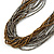 Multistrand Metallic Grey/ Bronze Glass Bead Necklace - 70cm L - view 5