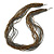 Multistrand Metallic Grey/ Bronze Glass Bead Necklace - 70cm L