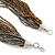 Multistrand Metallic Grey/ Bronze Glass Bead Necklace - 70cm L - view 6