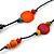 Long Multicoloured Wood, Plastic Bead Cotton Cord Necklace - 100cm L - view 4