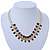 Statement Multicoloured Acrylic Bead Chunky Chain Necklace In Gold Tone - 40cm Length/ 7cm Extension - view 2