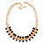 Statement Multicoloured Acrylic Bead Chunky Chain Necklace In Gold Tone - 40cm Length/ 7cm Extension - view 7