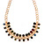 Statement Multicoloured Acrylic Bead Chunky Chain Necklace In Gold Tone - 40cm Length/ 7cm Extension - view 3