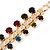 Statement Multicoloured Acrylic Bead Chunky Chain Necklace In Gold Tone - 40cm Length/ 7cm Extension - view 4