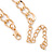 Statement Multicoloured Acrylic Bead Chunky Chain Necklace In Gold Tone - 40cm Length/ 7cm Extension - view 6