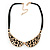 Gold Tone, Crystal Collar Necklace With Black Suede Cords - 40cm L/ 7cm Ext - view 4