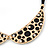 Gold Tone, Crystal Collar Necklace With Black Suede Cords - 40cm L/ 7cm Ext - view 6