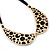 Gold Tone, Crystal Collar Necklace With Black Suede Cords - 40cm L/ 7cm Ext - view 5