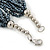 Hematite/ White Multistrand Glass Bead Necklace with Silver Tone Closure - 46cm L - view 4