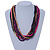 Multi-Strand Lime Purple/ Black/ Magenta/ Beige Wood Bead Adjustable Cord Necklace - 46cm to 58cm L - view 2