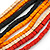 Multi-Strand Red/ Black/ Orange Wood Bead, Black Adjustable Cord Necklace - 46cm to 58cm L - view 5