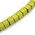 Multi-Strand Lime Green/ Black/ Teal/ Beige Wood Bead Adjustable Cord Necklace - 46cm to 58cm L - view 6