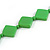 Long Bright Green Bone Square Bead Black Cotton Cord Necklace - 82cm L - view 5