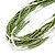 Multistrand White/ Green Glass Bead Necklace - 49cm L - view 6