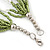 Multistrand White/ Green Glass Bead Necklace - 49cm L - view 3