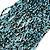 Chunky Light Blue/ Black Glass Bead Bib Necklace - 62cm L - view 3