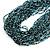 Chunky Light Blue/ Black Glass Bead Bib Necklace - 62cm L - view 6