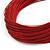 Multistrand Dark Red Silk Cord Necklace In Silver Tone - 40cm L - view 4
