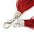Multistrand Dark Red Silk Cord Necklace In Silver Tone - 40cm L - view 5