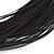 Multistrand Black Silk Cord Necklace In Silver Tone - 40cm L - view 3