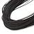 Multistrand Black Silk Cord Necklace In Silver Tone - 40cm L - view 4