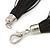Multistrand Black Silk Cord Necklace In Silver Tone - 40cm L - view 5