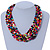 Multistrand Multicoloured Wood Bead, Black Adjustable Cord Necklace - 46cm to 58cm L - view 3