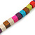 Multistrand Multicoloured Wood Bead, Black Adjustable Cord Necklace - 46cm to 58cm L - view 5